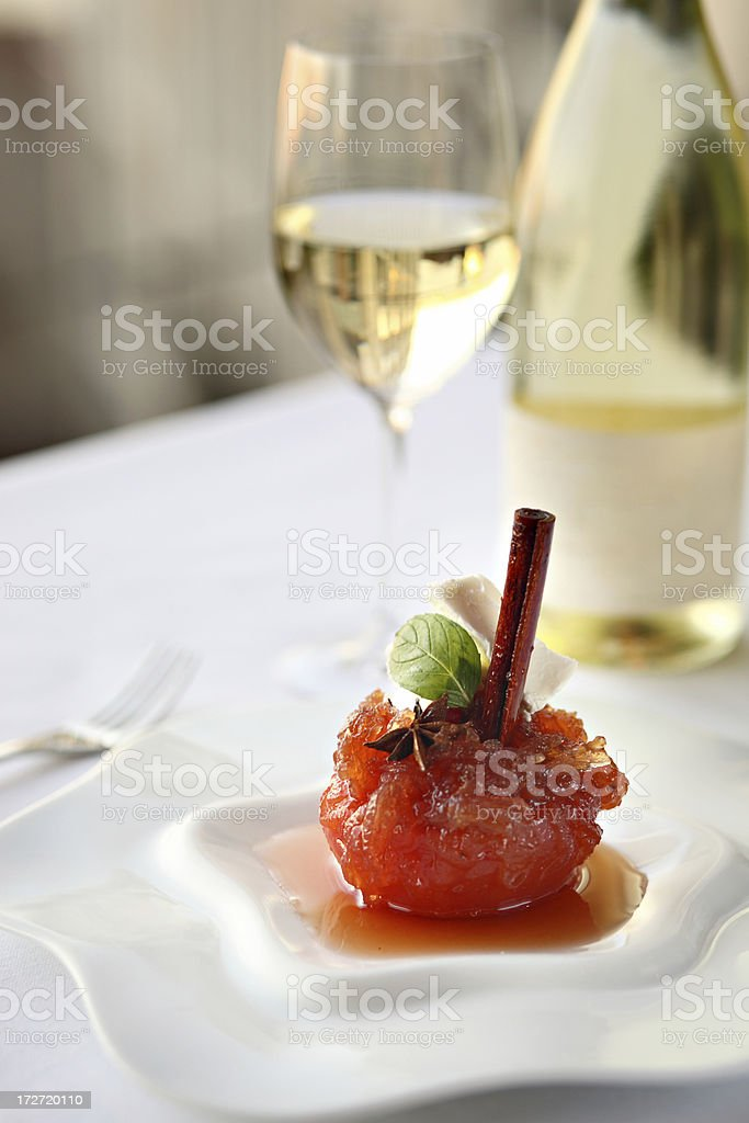 Quince Dessert & Wine royalty-free stock photo