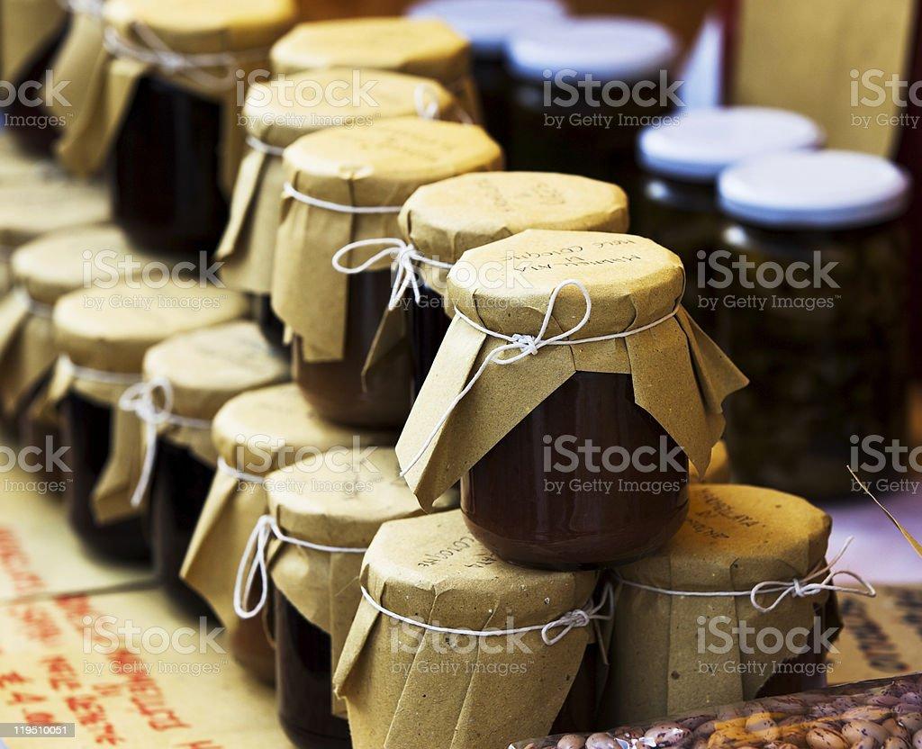 quince marmelade stock photo