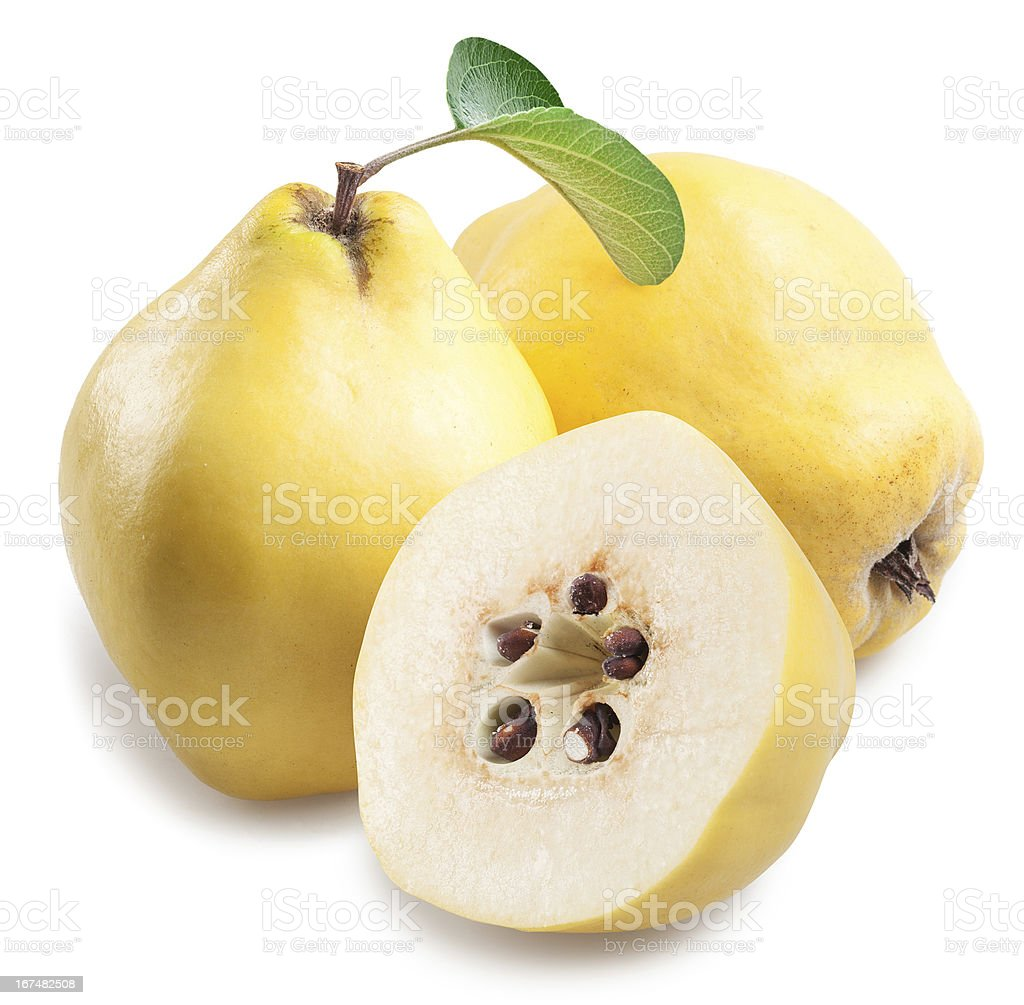 Quince with slices. royalty-free stock photo