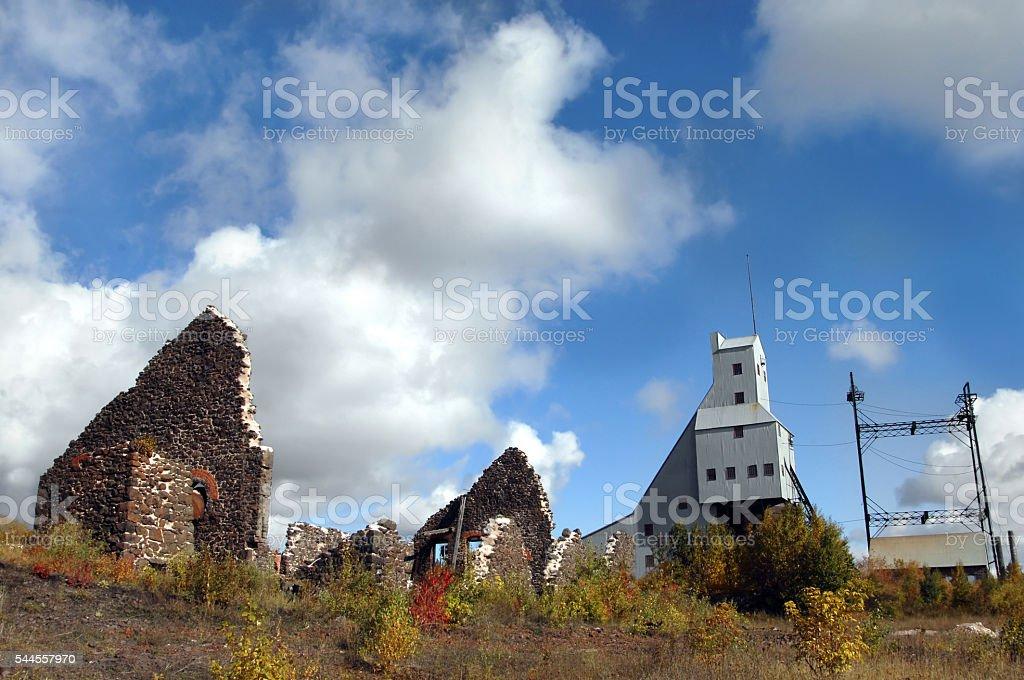 Quincy Copper Mine Relics stock photo