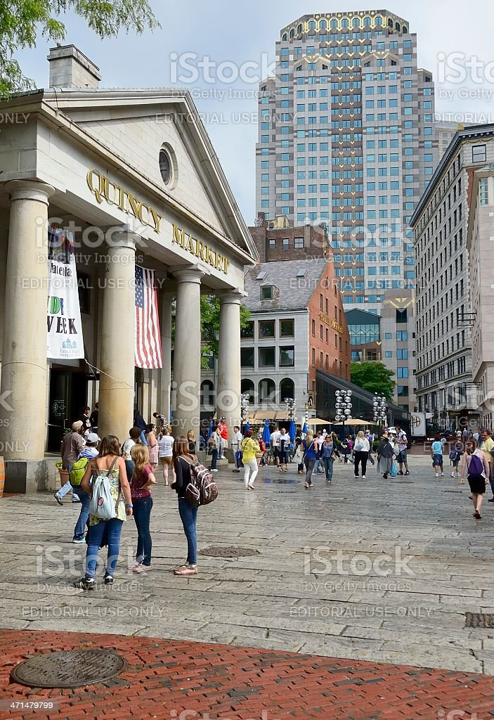 Quincy Market stock photo