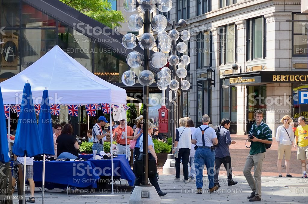 Quincy Market royalty-free stock photo