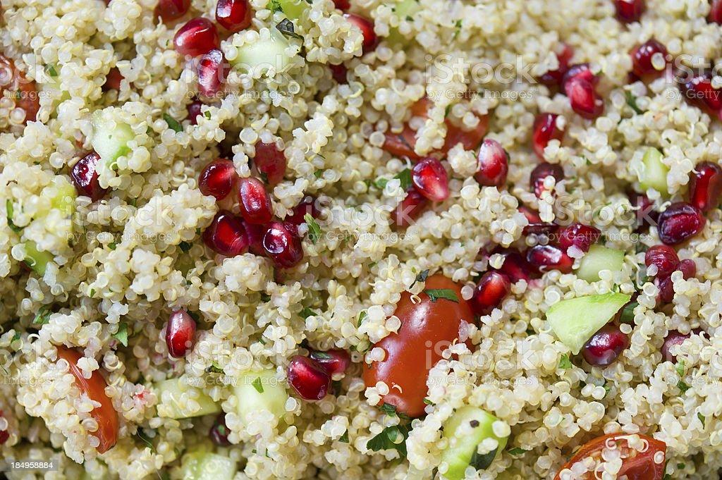 Quinoa and Pomegranite Salad stock photo