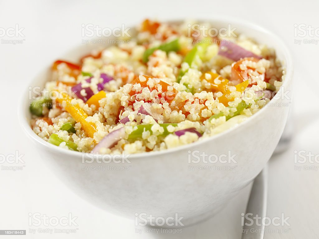 Quinoa and Vegetable Salad royalty-free stock photo