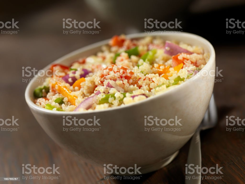 Quinoa and Vegetable Salad stock photo