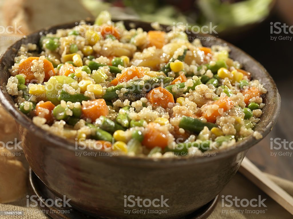 Quinoa and Vegetable Stew royalty-free stock photo