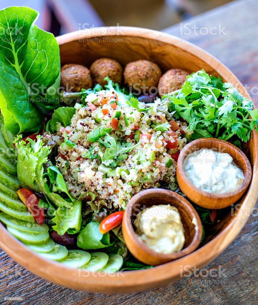 Quinoa bowl stock photo