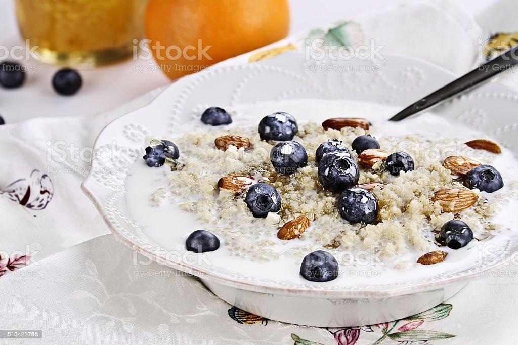 Quinoa Breakfast stock photo
