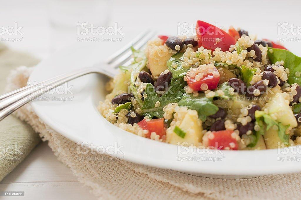 Quinoa fresh salad stock photo