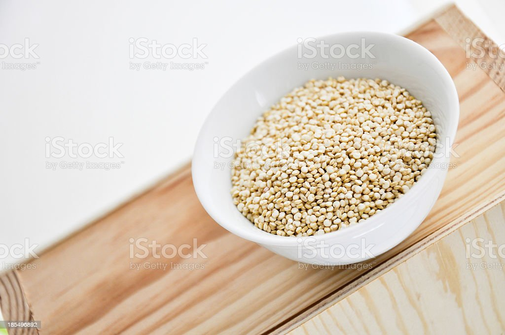 quinoa in a bowl royalty-free stock photo