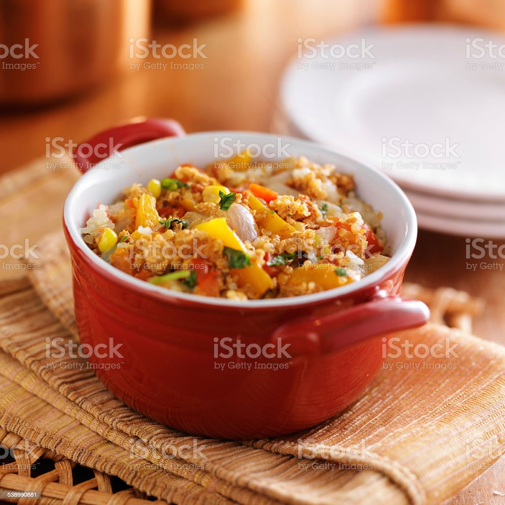 quinoa casserole stock photo