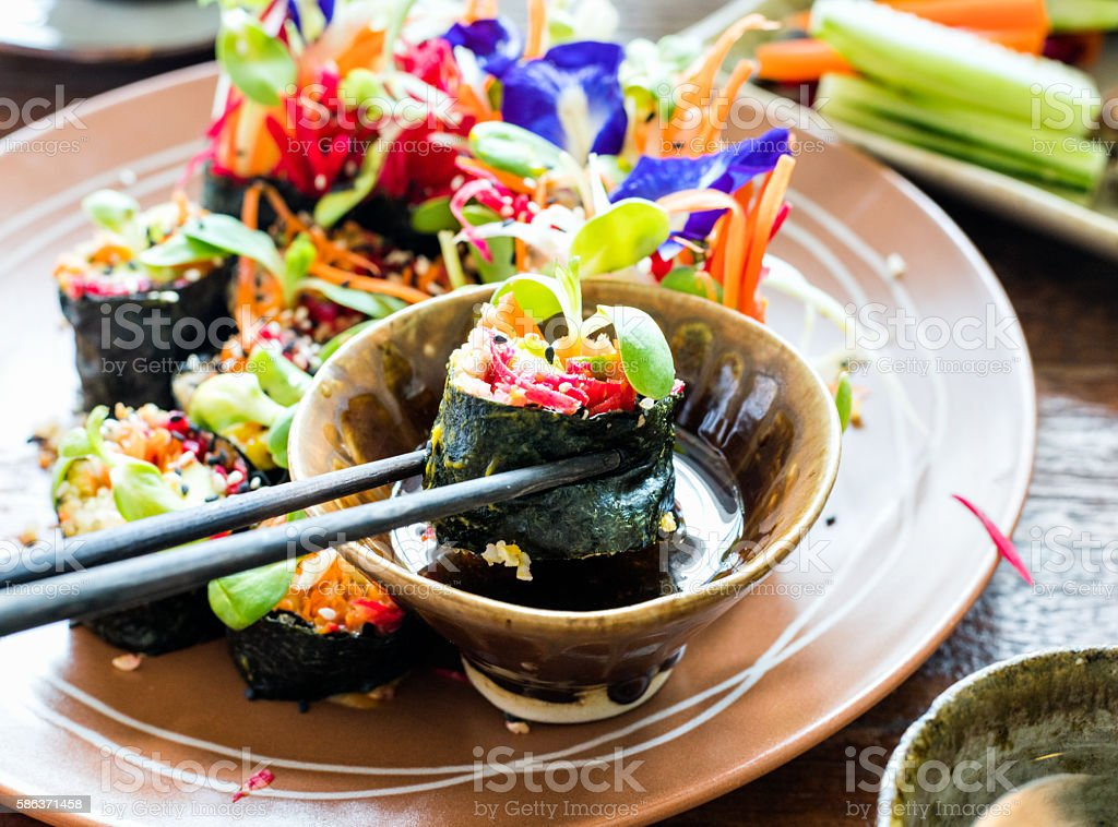 Quinoa rolls stock photo