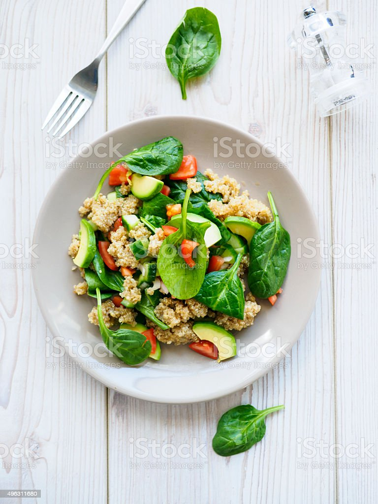 quinoa salad stock photo