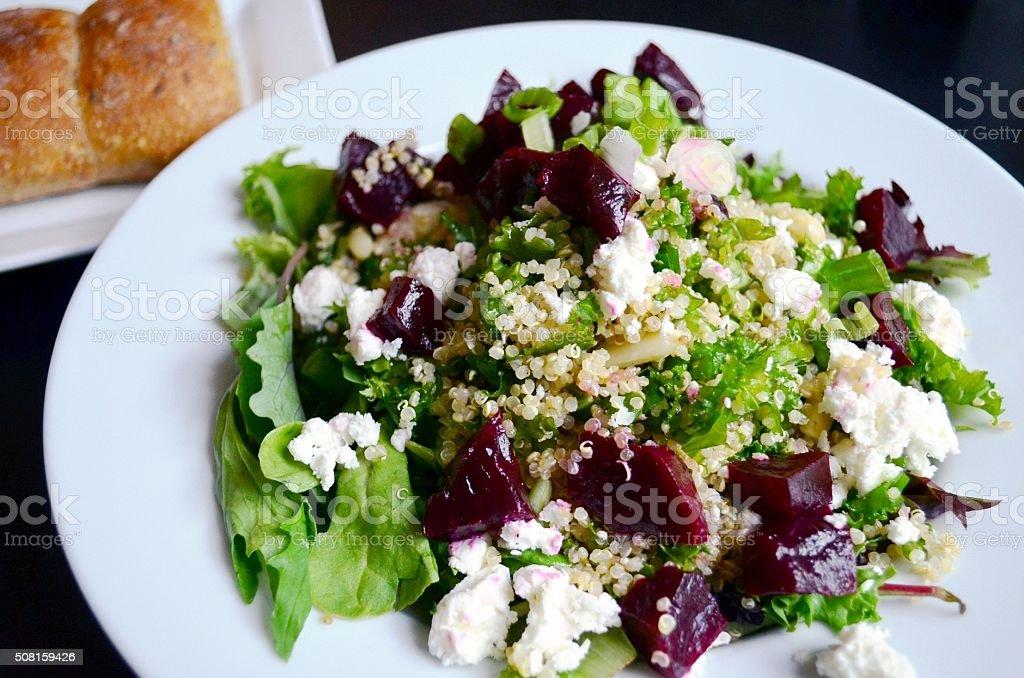 Quinoa Salad with beet stock photo