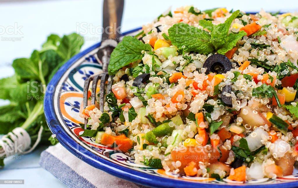 Quinoa vegan salad stock photo