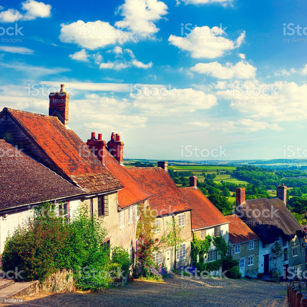 Quintessential English Scene Tranquil Scene Concept stock photo