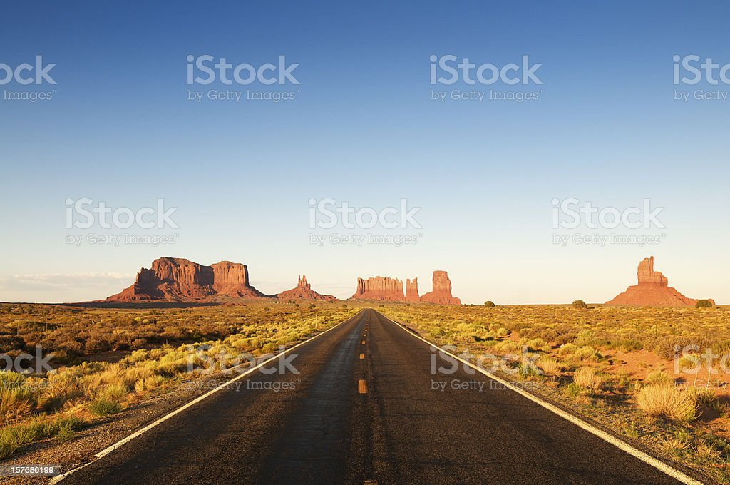 Quintessential Southwest American Highway royalty-free stock photo