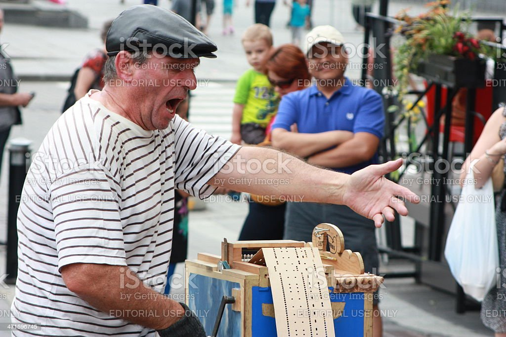 Quintessential Street Performer stock photo