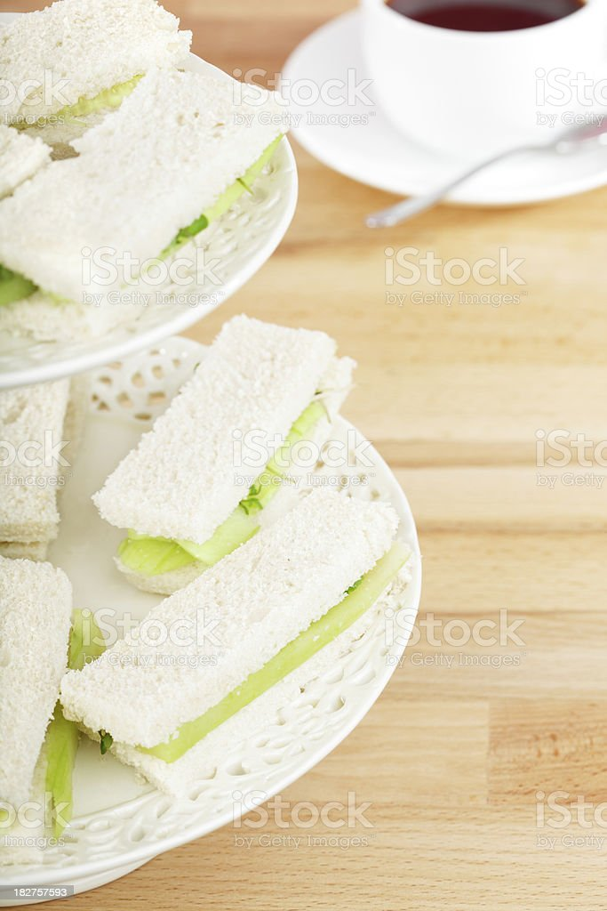 Quintissentially English Cucumber Sandwiches stock photo