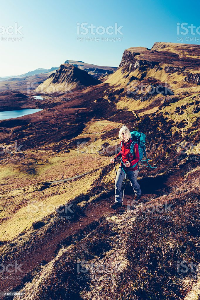 Quiraing Trail, Skye, Scotland stock photo