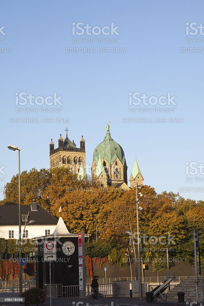 Quirinus Münster in Neuss royalty-free stock photo