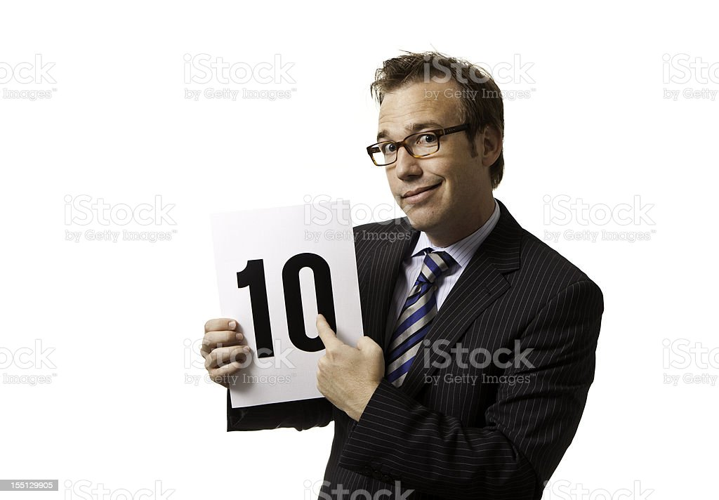 Quirky 10 stock photo