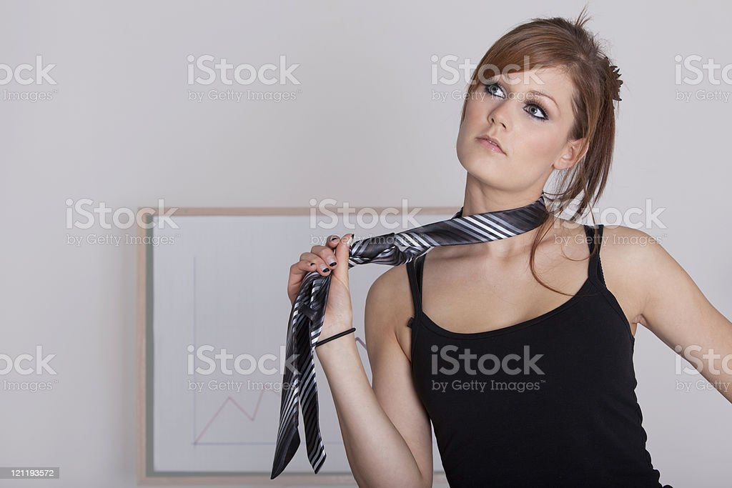 Quirky business woman stock photo