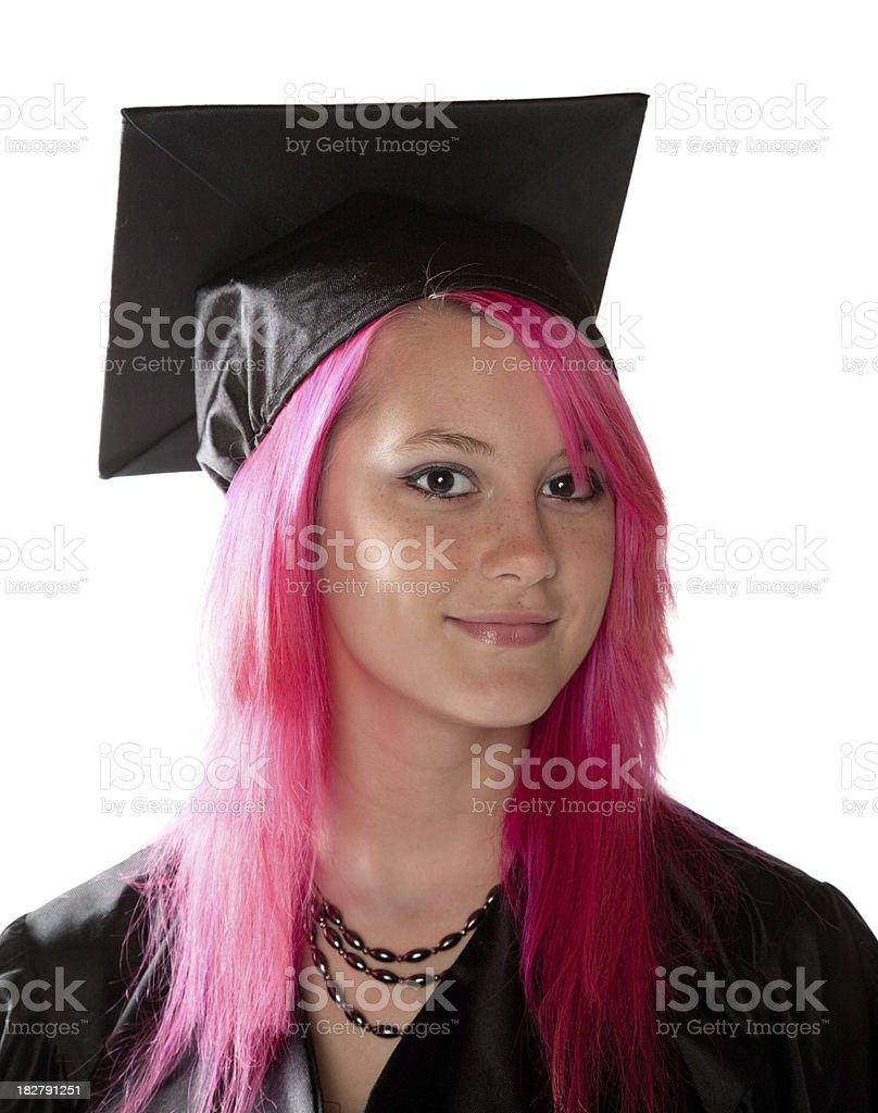 Quirky Graduate Portrait stock photo
