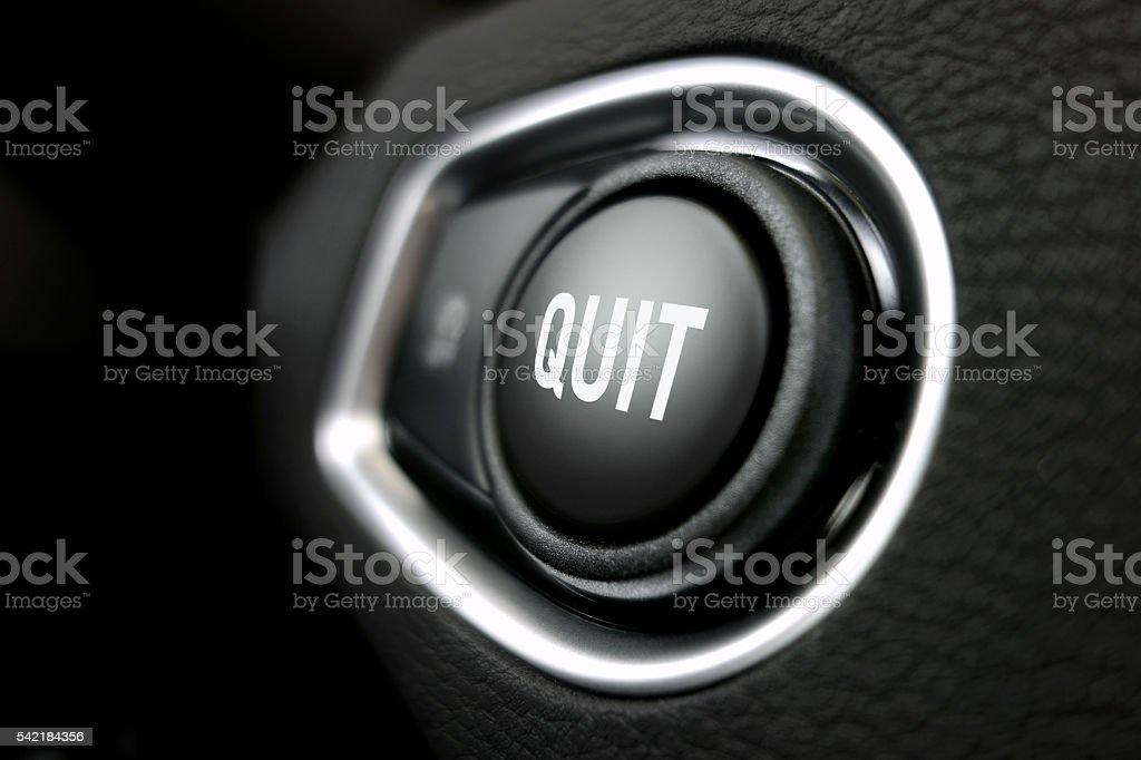 Quit button stock photo
