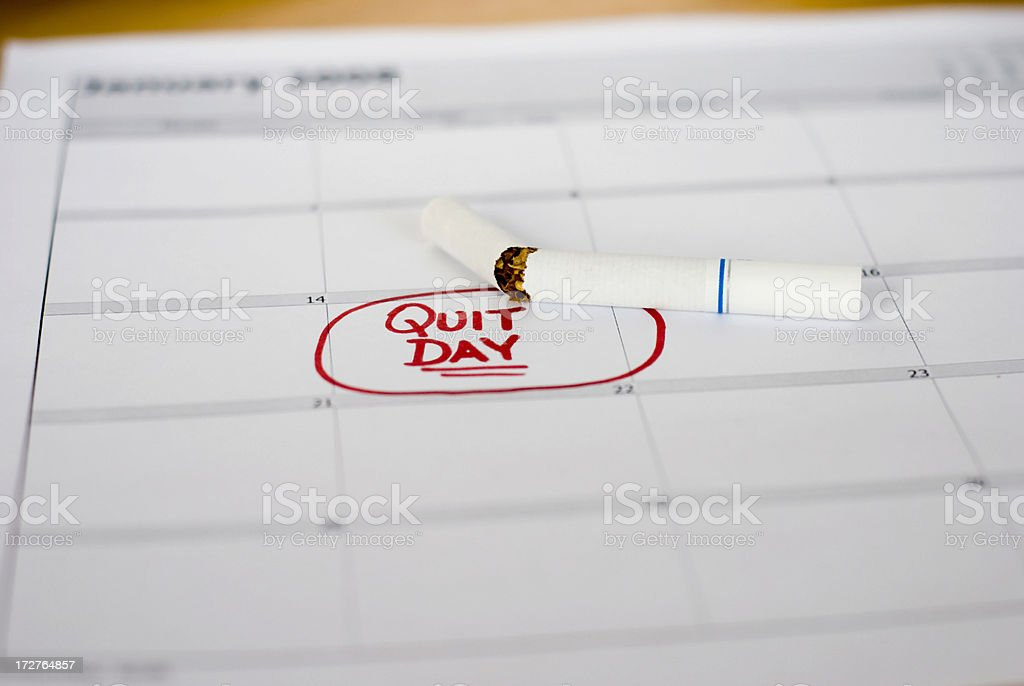 Quit Day royalty-free stock photo