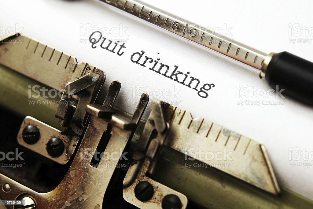 Quit drinking stock photo