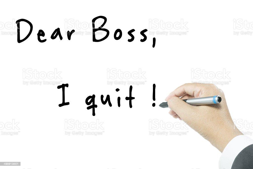 quit job stock photo