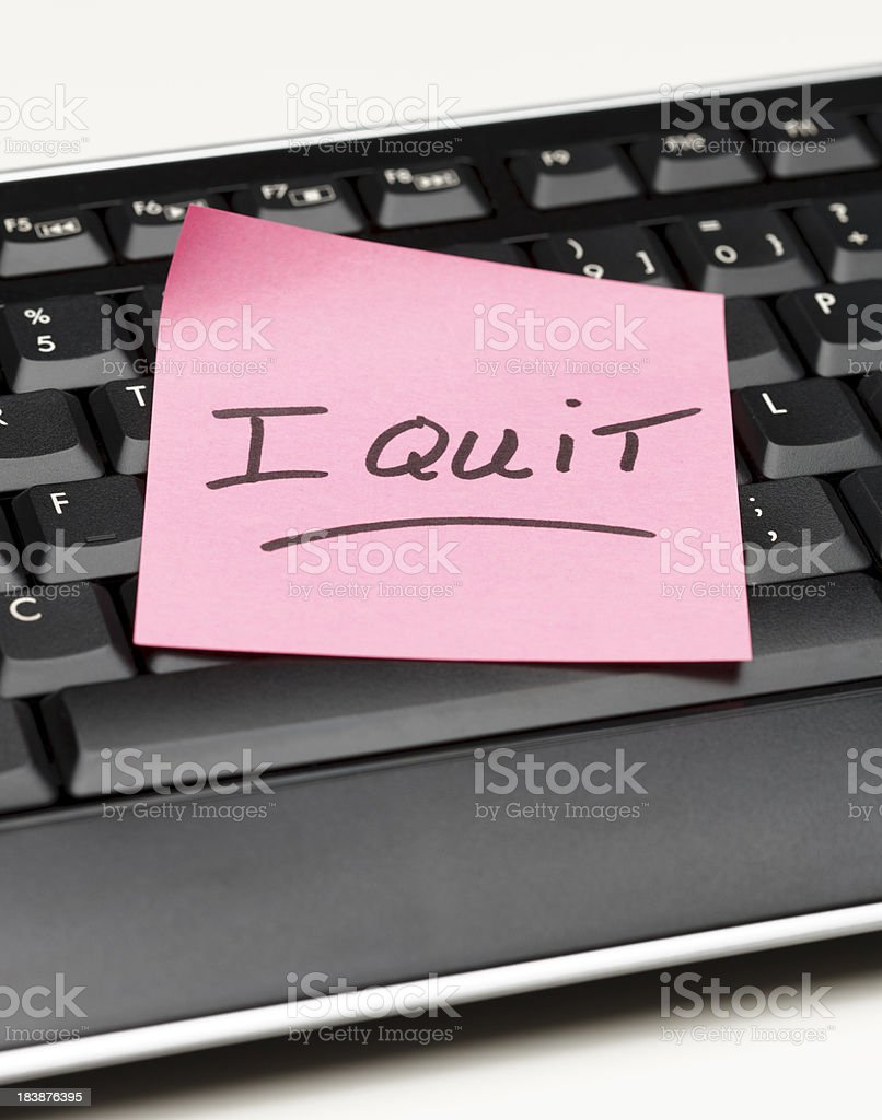 I Quit Note royalty-free stock photo