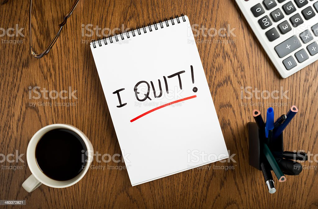 I quit! royalty-free stock photo