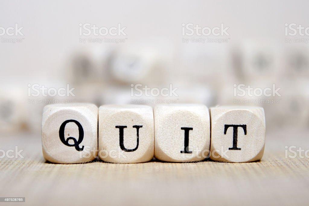 Quit stock photo
