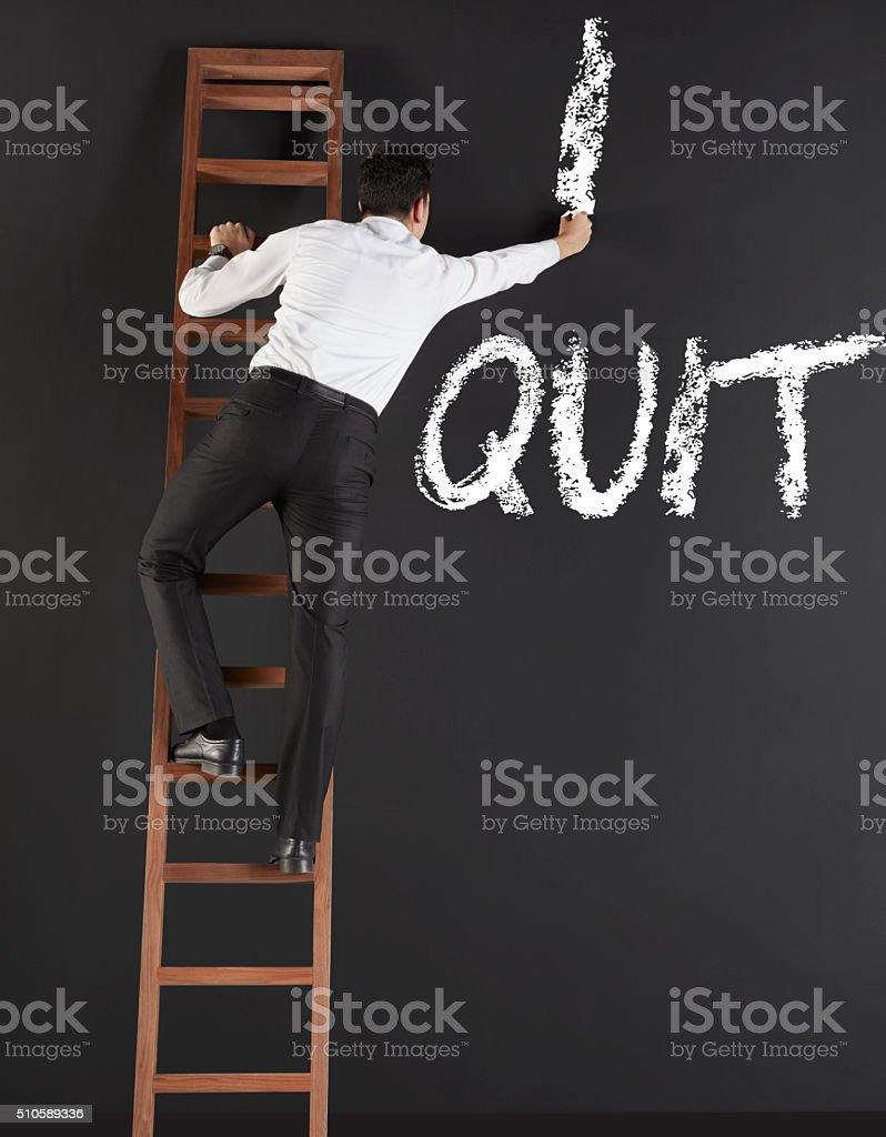 I quit stock photo
