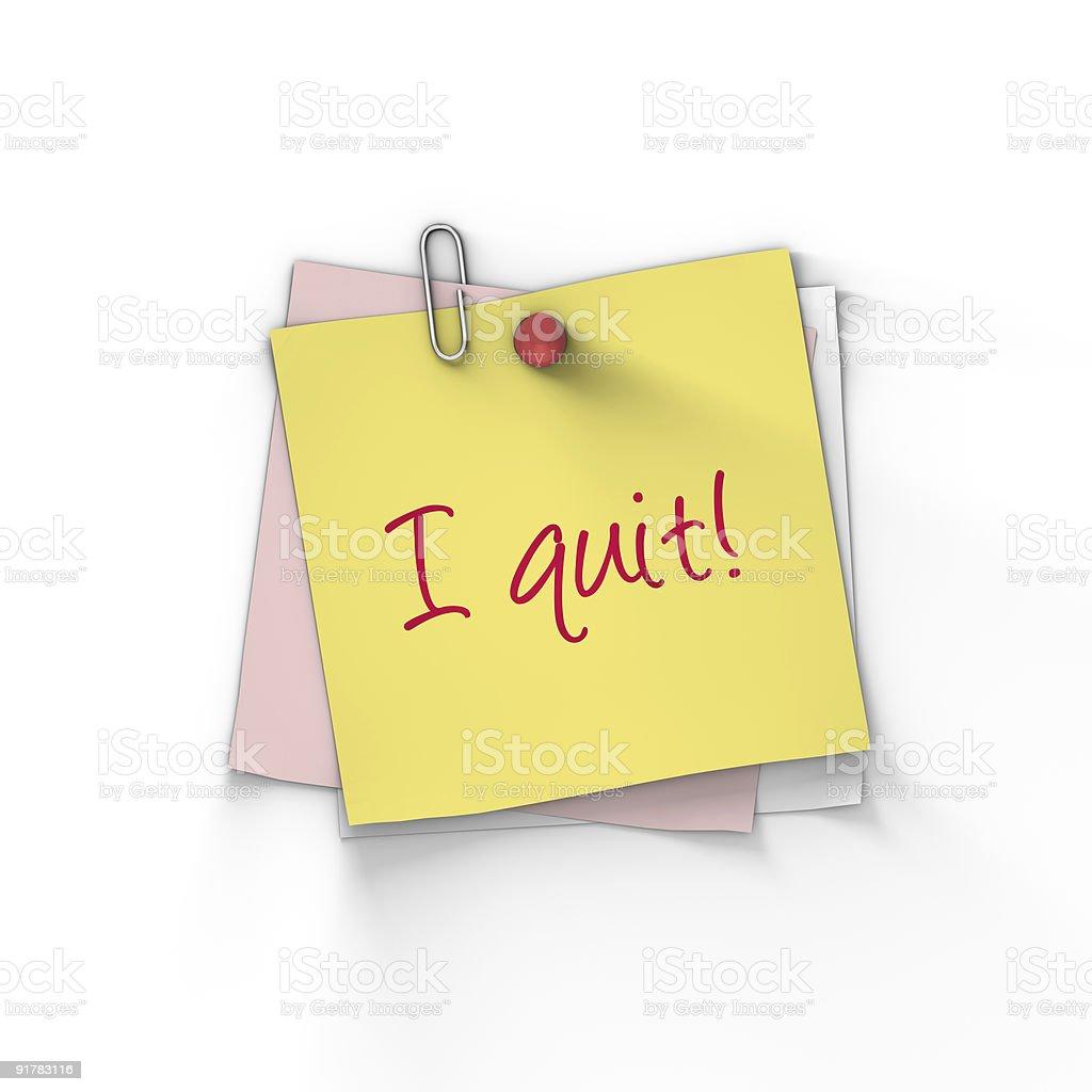 I quit! royalty-free stock photo