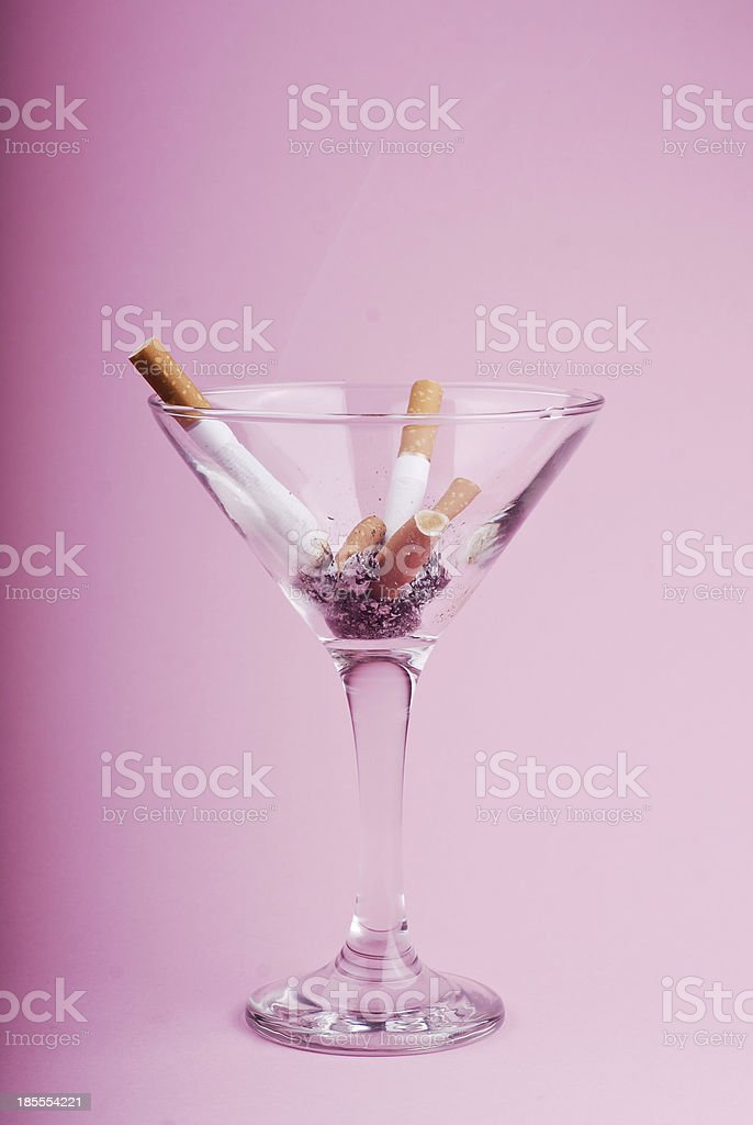 Quit smoking and drinking stock photo