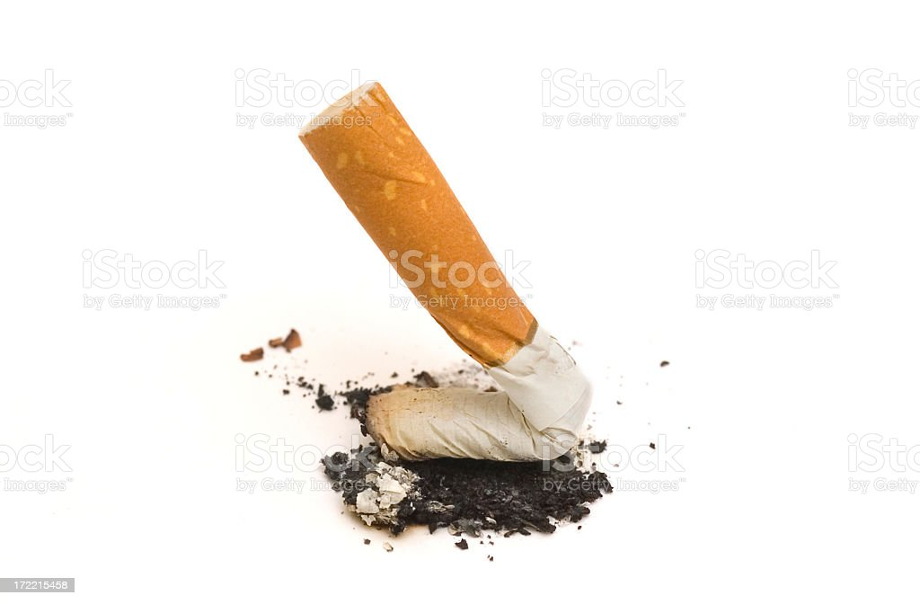 Quit smoking butt royalty-free stock photo