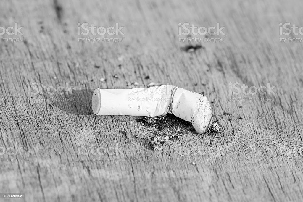 Quit smoking,breaking the cigarette stock photo