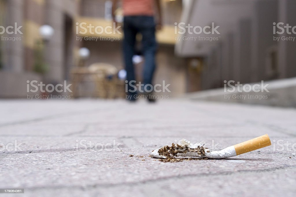 I Quit smoking..Never Going Back stock photo