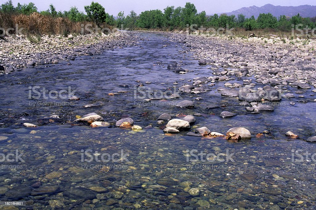 Quite Flows the River royalty-free stock photo