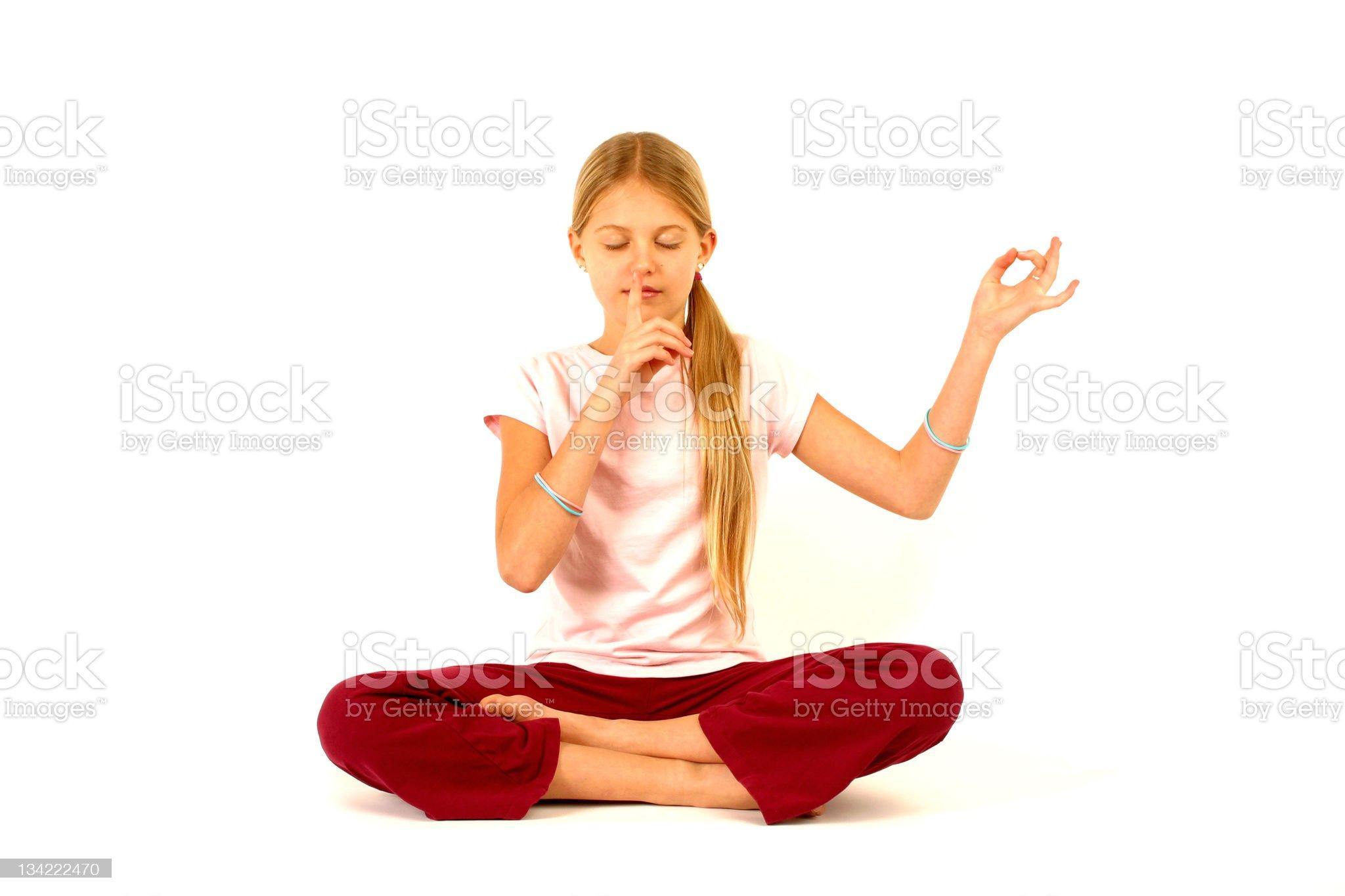 quite i wanna do yoga royalty-free stock photo