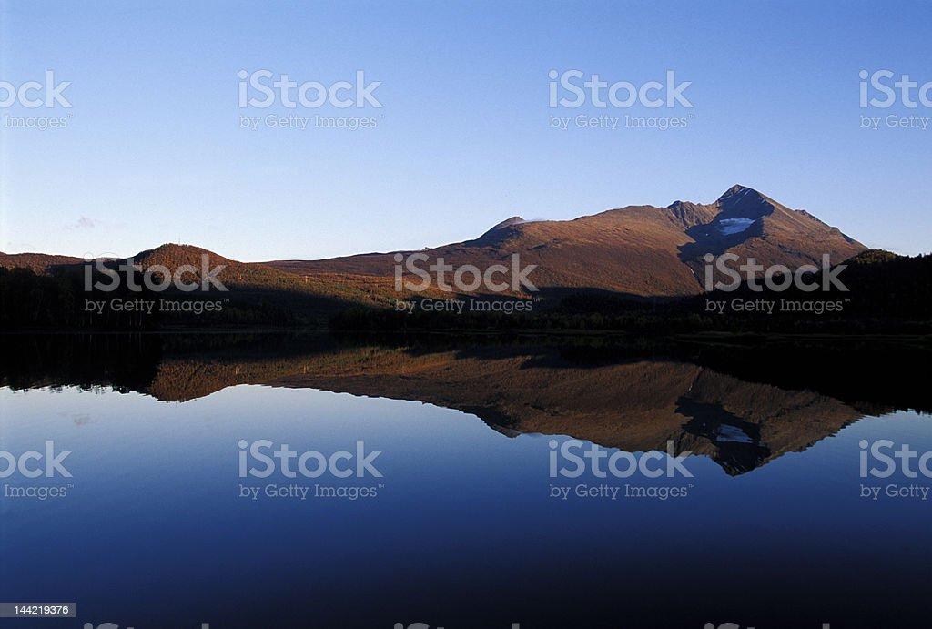 quite lake reflection landscape royalty-free stock photo