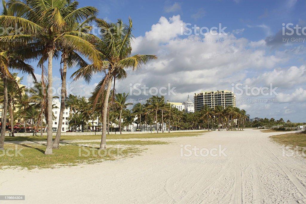 Quite morning in Miami Beach, Florida, USA royalty-free stock photo