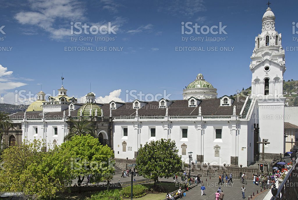 Quito Cathedral royalty-free stock photo