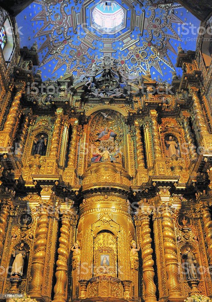 Quito, Ecuador: Jesuits' Church royalty-free stock photo