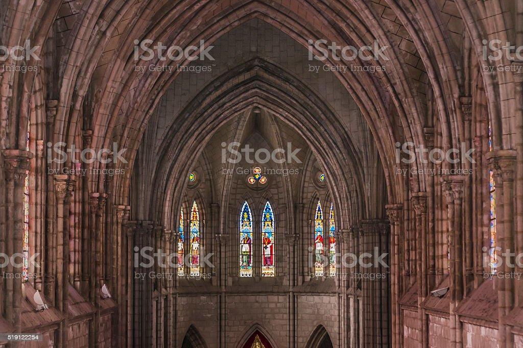 Quito San Juan Basilica Interior View stock photo