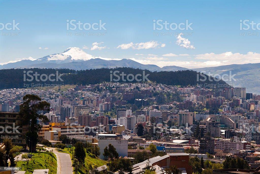 Quito-Ecuador stock photo