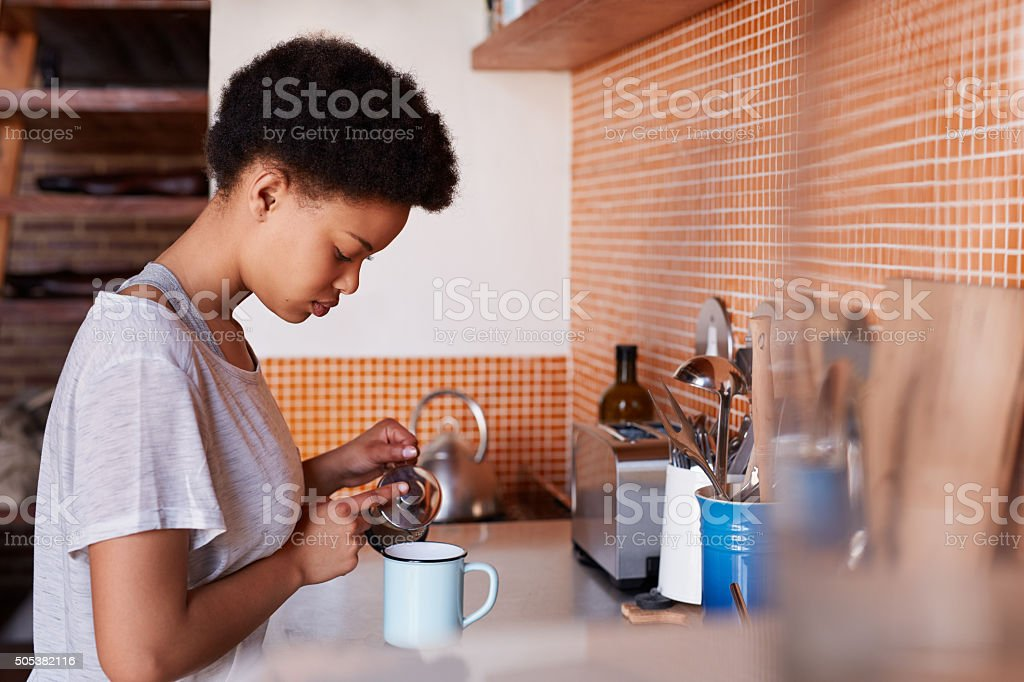 Quitters make excuses, winners make coffee stock photo